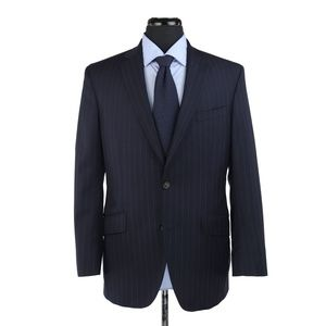 Ted Baker London 2-Btn Suit Blue Striped 40R